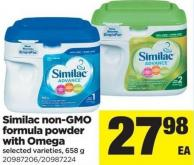 Similac Non-gmo Formula Powder With Omega - 658 g