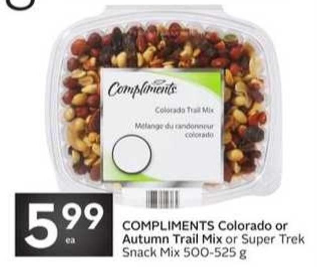 Colorado or Autumn Trail Mix or Super Trek Snack Mix 500-525 g