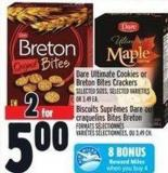 Dare Ultimate Cookies Or Breton Bites Crackers