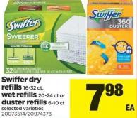 Swiffer Dry Refills 16-32 Ct - Wet Refills 20-24 Ct Or Duster Refills 6-10 Ct