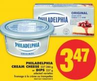 Philadelphia Cream Cheese - 227-280 g or Dips - 227 g
