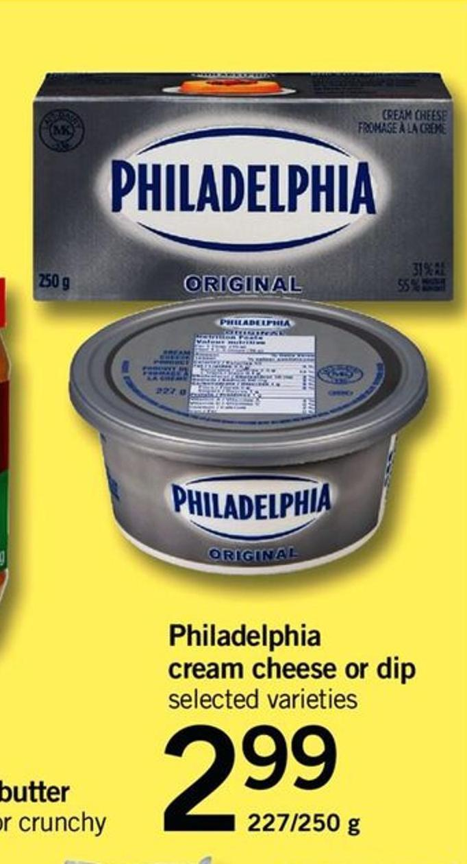 Philadelphia Cream Cheese Or Dip - 227/250 G