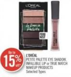 L'oréal Petite Palette Eye Shadow - Infallible Lip or True Match Makeup Products