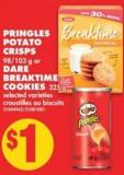 Pringles Potato Crisps - 98/103 g or Dare Breaktime Cookies - 325 g