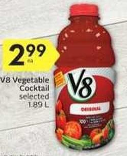 V8 Vegetable Cocktail Selected 1.89 L