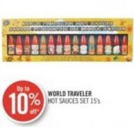 World Traveler Hot Sauces Set 15's