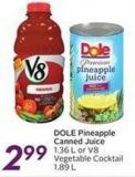 Dole Pineapple Canned Juice