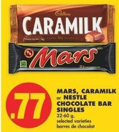 Mars - Caramilk Or Nestle Chocolate Bar Singles - 32-60 G