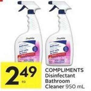 Compliments Disinfectant Bathroom Cleaner 950 mL