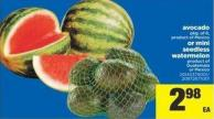 Avocado - Pkg Of 6 Or Mini Seedless Watermelon