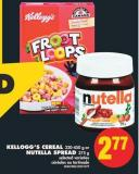 Kellogg's Cereal - 320-450 g or Nutella Spread - 375 g