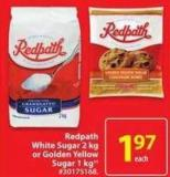 Redpath White Sugar 2 Kg or Golden Yellow Sugar 1 Kg