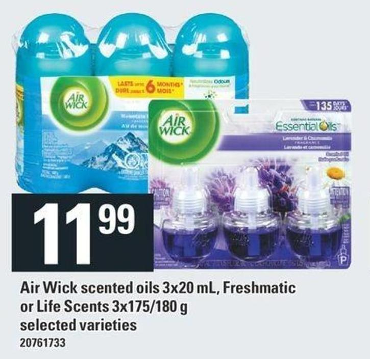 Air Wick Scented Oils 3x20 Ml - Freshmatic Or Life Scents - 3x175/180 G