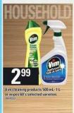 Vim Cleaning Products 500 Ml- 1 L Or Wipes 60's