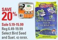 Select Bird Seed and Suet