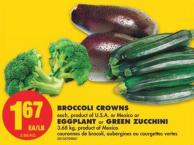 Broccoli Crowns - Eggplant or Green Zucchini