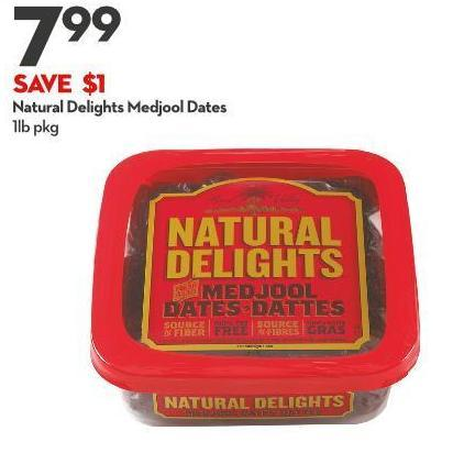 Natural Delights Medjool Dates 1lb Pkg
