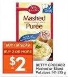 Betty Crocker Mashed or Sliced Potatoes 141 - 215 g
