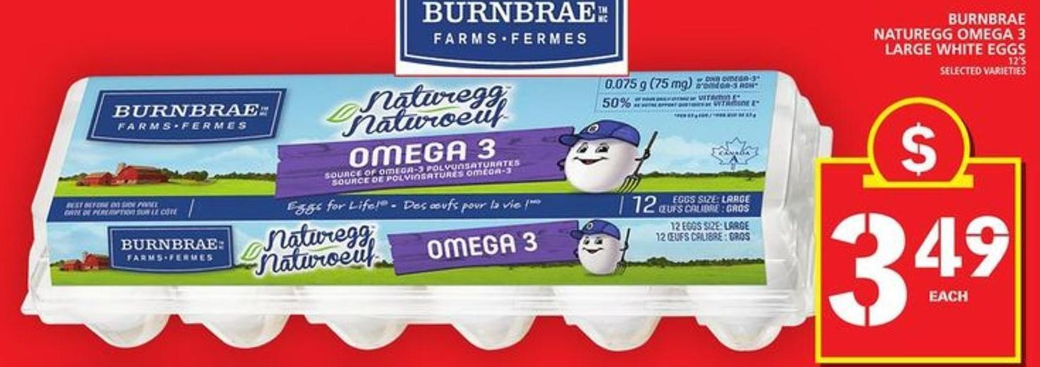 Burnbrae Naturegg Omega 3 Large White Eggs