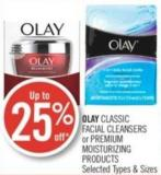 Olay Classic Facial Cleansers or Premium Moisturizing Products