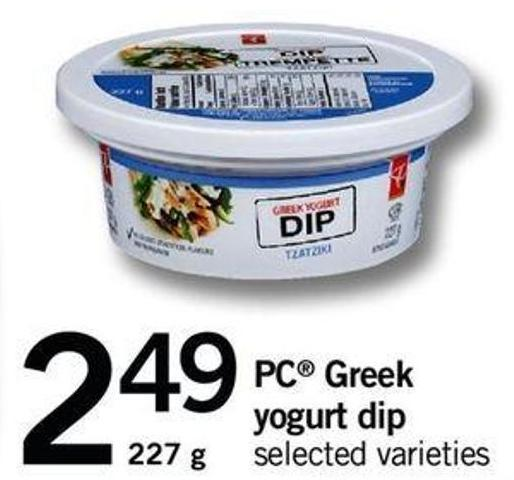 PC Greek Yogurt Dip - 227 G