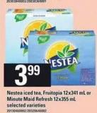 Nestea Iced Tea - Fruitopia - 12x341 Ml Or Minute Maid Refresh - 12x355 Ml