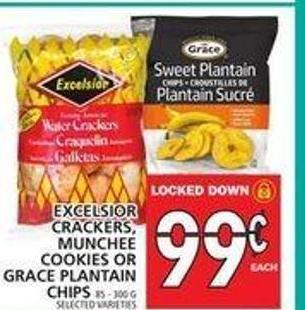 Excelsior Crackers - Munchee Cookies Or Grace Plantain Chips