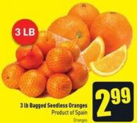 3 Lb Bagged Seedless Oranges