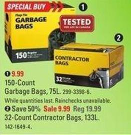 150-count Garbage Bags - 75l