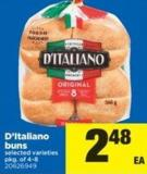 D'italiano Buns - Pkg of 4-8