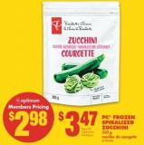 PC Frozen Spiralized Zucchini - 350 g