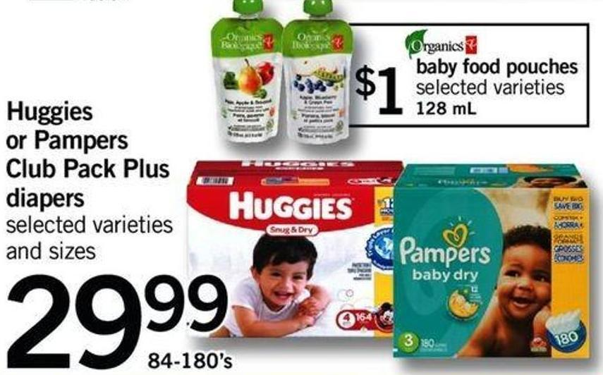 Huggies Or Pampers Club Pack Plus Diapers - 84-180's