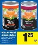 Minute Maid Orange Juice - 295 Ml
