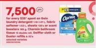 Gain Laundry Detergent 1.18-1.47 L - Fabric Softener 1.53 L - Sheets 120's Or Scent Boosters 185 G - Charmin Bathroom Tissue 12 Double Roll - Swiffer Cloth Or Duster Refills 6-32's