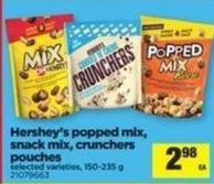 Hershey's Popped Mix - Snack Mix - Crunchers Pouches - 150-235 g