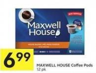 Maxwell House Coffee Pods 12 Pk