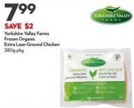 Yorkshire Valley Farms Frozen Organic Extra Lean Ground Chicken 380g