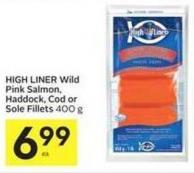 High Liner Wild Pink Salmon - Haddock - Cod or Sole Fillets