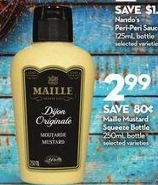 Maille Mustard Squeeze Bottle
