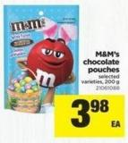 M&m's Chocolate Pouches Selected - 200 g
