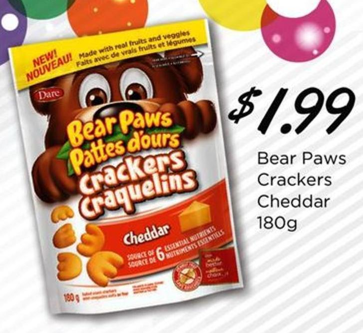 Bear Paws Crackers Cheddar - 180g