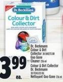 Dr. Beckmann Colour & Dirt Collector 30 Sheets Or Goo Gone Cleaner 236 ml