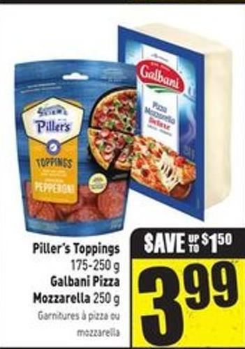 Piller's Toppings 175-250 g Galbani Pizza Mozzarella 250 g
