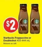 Starbucks Frappuccino or Doubleshot 405-444 mL