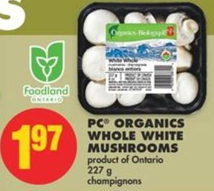 PC Organics Whole White Mushrooms - 227 g