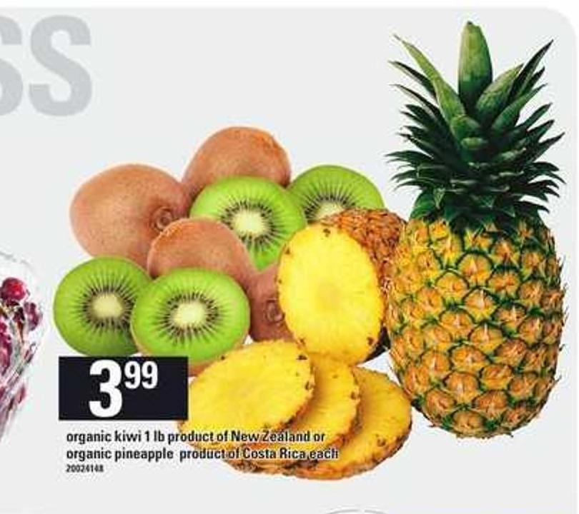 Organic Kiwi - 1 Lb Or Organic Pineapple
