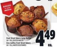 Front Street Bakery Large Muffins 540 - 720 g