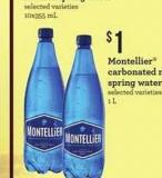 Montellier Carbonated Natural Spring Water - 1 L