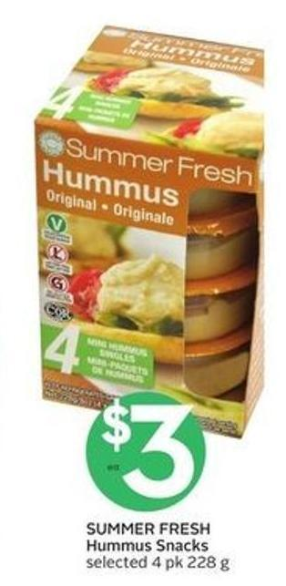 Summer Fresh Hummus Snacks
