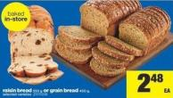 Raisin Bread - 550 G Or Grain Bread - 450 G